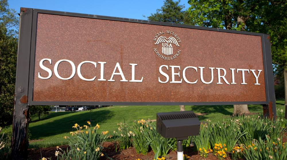 Sign outside Social Security Administration Headquarters in Woodlawn MD-Trump Biden Social Security-ss-featured