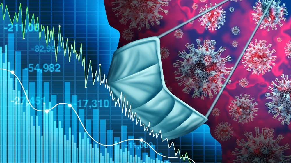 Economy and disease as an economic pandemic fear and coronavirus fears or virus Outbreak and Stock market selling as a sick financial health business recession-Stocks Worst Day-ss-featured