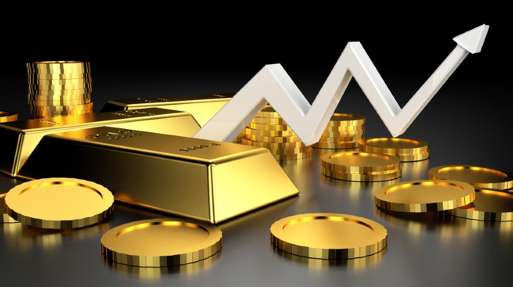 Gold price for website banner. 3D rendering of gold bars | Gold Prices Climb, Hit Three Month Record High | Featured