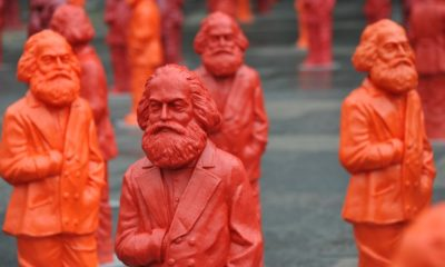 Sculptures of Karl Marx by the artist Ottmar Hörl in Trier, Germany - Marx was a German philosopher | Karl Marx Was Right on One Thing | Featured
