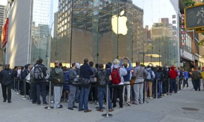 Thousands of loyal customers wait on long lines stretching many blocks outside the Apple Store | Apple Gets Rare Sell Rating, iPhone Sales 'Unsustainable' | Featured