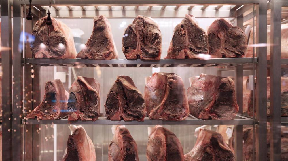 Frozen large pieces of meat for steaks in the freezer   Supermarkets Stocking Up As Food Prices Rise   featured