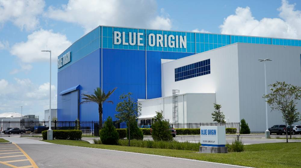 Blue Origin launch vehicle production facility | Blue Origin Sues US Government Over Lunar Lander Contract | featured