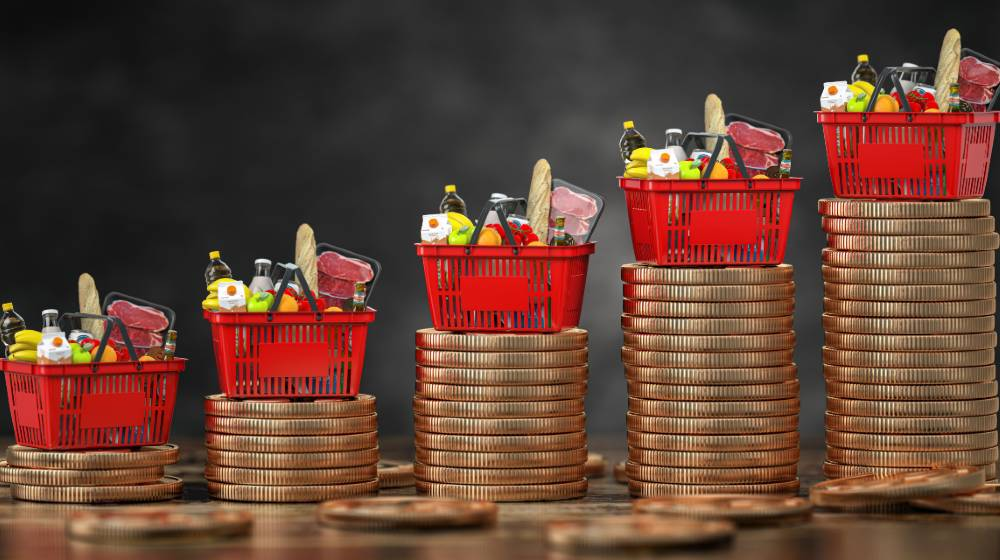 Growth of food sales or growth of market basket or consumer price index concept   July Consumer Price Index Rises to 5.4%   featured